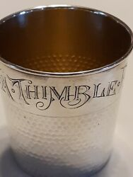 Only A Thimble Full Shot Glass Sterling