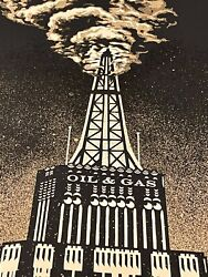 Shepard Fairey Obey Giant Oil And Gas Building Fine Art Print Poster Free Shipping