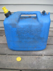 Vintage Pre Ban Wedco 5 Gallon Vented Blue Kerosene Can Jerry Gas Can 81520