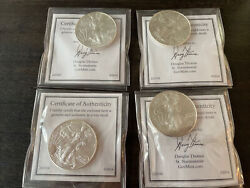 Lot Of 2014 Usa One Dollar 1 Liberty 1 Oz Fine Silver Coin American Eagle Round