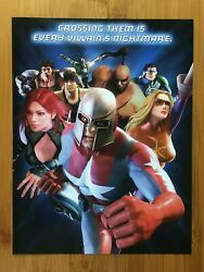 City Of Heroes Pc 2004 Vintage Print Ad/poster Official Authentic Promo Art Rare