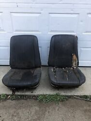 1968 Pontiac Lemans Front Seats Bucket Seats With Tracks Coupe Or Convertible