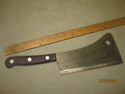 Antique Meat Cleaver Large Hog Chopper Knife Universal Lfandc Usa Forged Cutlery