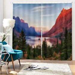 Blue Stage Grade Line 3d Curtain Blockout Photo Printing Curtains Drape Fabric