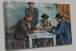 The Card Players By Paul Cezanne Canvas Wall Art Picture Print