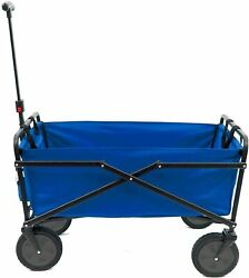 Heavy Duty Folding Outdoor Utility Cart Beach Sports Collapsible Wagon Gardening