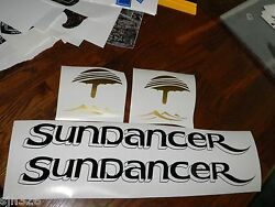 Sea Ray Sundancer Decals Fake Drop Shadow Black Gold - Free Shipping 5 X 22.5