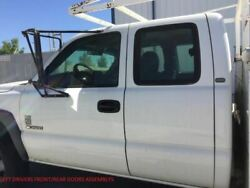 99-07 Silverado Lh Left Drivers Front And Rear Extended Cab White Manual Doors