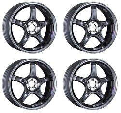 Ssr Gt X03 18x7.5 5x114.3 +53 +48 +38 Machined Graphite Gm From Japan 4 Rims