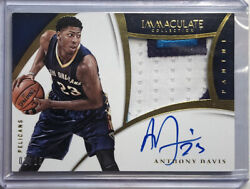 2014-15 Immaculate Premium Patch Auto Anthony Davis /25 Pelicans Lakers