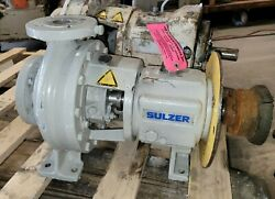 Sulzer Flm-4888 Stainless Steel Pump 2'' Inlet X 1.5'' Outlet