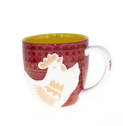Starbucks Rooster Zodiac Red Ceramic Mug Chinese New Year Coffee Cup 12 Oz