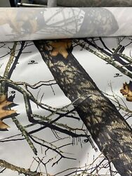 Roll Of Camo Fabric Mossy Oak Winter 60 Wide 150 Yards 100 Satin/polyester