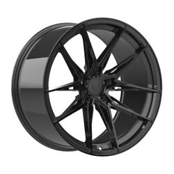 4 Hp1 19 Inch Staggered Gloss Black Rims Fits Ford Fusion 2006 - 2012