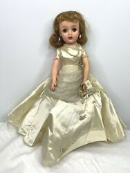 Vintage 1950and039s Miss Revlon Vt 18 Doll Ideal Toys Wedding Dress Holy Bible Pearls