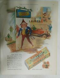 Wrigley Gum Ad Wrigley Doublemint Gum From 1928 Size 11 X 15 Inches