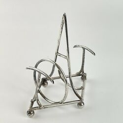 """Antique Solid Silver """"toast"""" Toast Rack Hukin And Heath 1898 A/f Damaged"""