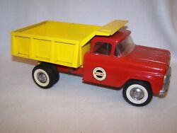 Vintage 1960and039s And039red And Yellowand039 Nylint No. 5100 Dump Truck Nice Condition