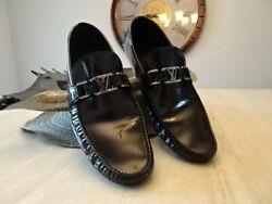 Rare Louis Vuitton Exotic Leather Moccasin Loafer Black Size 9 Us / 8 Lv