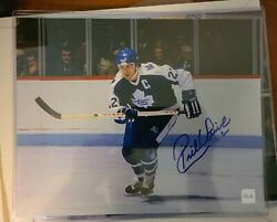 Rick Vaive Autograph 8x10 With Coa - Cojo Sport Collectables