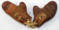Antique Old Sports Leather Boxing Gloves Miniature Salesman Sample