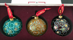 Waterford Holiday Heirlooms Jim O'leary Collection Set Of 3 Ornaments