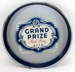C.1950's Houston Texas Grand Prize Pale Dry Beer Tray - Canco 12 Diameter
