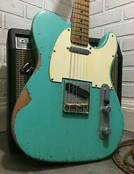 Relic Fender Telecaster Road Worn Green Electric Guitar By Nateand039s Relic Guitars