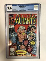 New Mutants 1990 87 Cgc 9.6 White Pages - 1st App Cable