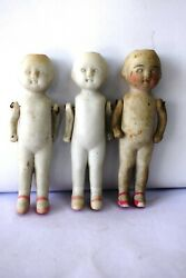Antique Jointed German Bisque Doll Porcelain Dollhouse Frozen Doll Collectiblef