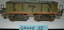 Marklin Antique Early Toy Train Gauge 2 Hand-painted Car 8 Wheel Germany
