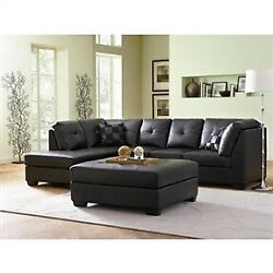 White Faux Leather Convertible Sofa Futon With 2 Cup Holdersblack Bonded Leather