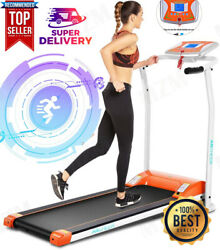 2.0hp Electric Folding Treadmill For Home With Lcd Monitorpulse Gripandsafe Key