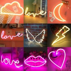 Cloud Moon Wall Word Poster Led Neon Sign Light Love Flashing Background Room