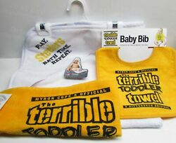 Steeler Baby Hooded Bath Towel And A Toddler Terrible Towel Or Bib New W Tags