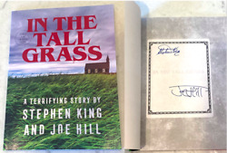 Stephen King And Joe Hill Signed 'in The Tall Grass' Novella Book Indie Book Exclu