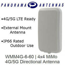 Panorama Antenna 4x4 Mimo High Gain Directional Antenna 4g 5g Lte 16' Cable