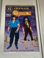 The Question Annual 1 Dc Comics 1988 Vf Cowan And Sienkiewicz Art 2 Copies Lot