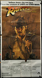 Raiders Of The Lost Ark 1981 Authentic 41x81 3-sheet Movie Poster Harrison Ford