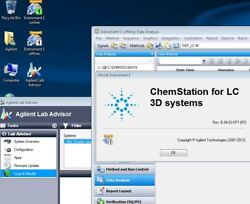 Agilent Pc With Chemstation B04.03 Hplc 1100/1200 3d Dad + Lan Card Plug And Play