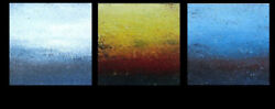 Original Painting 30 X 90 Contemporary Abstract 3 Canvases Aleutian Dream
