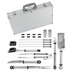 Mr. Bar-b-q 21 Piece Stainless Steel Barbecue Tool Set With Carrying Case 02066y