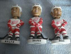 Vintage Detroit Red Wings Grind Line Bobbleheads - Drapes, Malts, And Mac