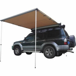 Car Side Awning Rooftop Pull Out Tent Waterproof Heavy Duty Shelter Black 6'x6'