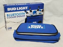 Bud Light Bluetooth Cooler Speaker Nib New Holds 24 Cans Ice Chest Budweiser