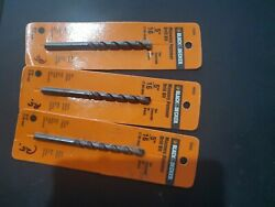 3 Black And Decker 5/16 Masonary Hammer Drill Bits 16804-03 New In Pack Free Sandh