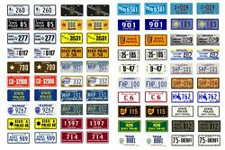 1/25 1/24 Scale Model Car Assorted Usa Police License Plates State Tags 125