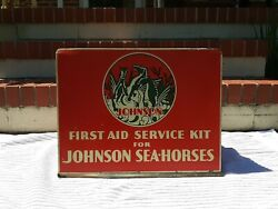 Vintage Johnson Seahorses Marine Outboard Motor First Aid Service Kit Drawers