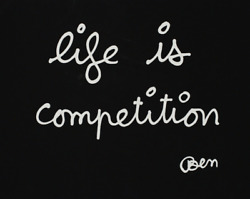 Ben Vautier And039life Is Competitionand039 - 1992 Olympic Edition Size 91x63cm Signed