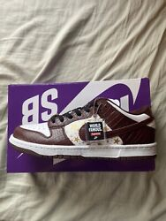 Nike Sb Dunk Low Supreme Stars Barkroot Brown 2021 Dh3228-103 Size 8.5 In Hand